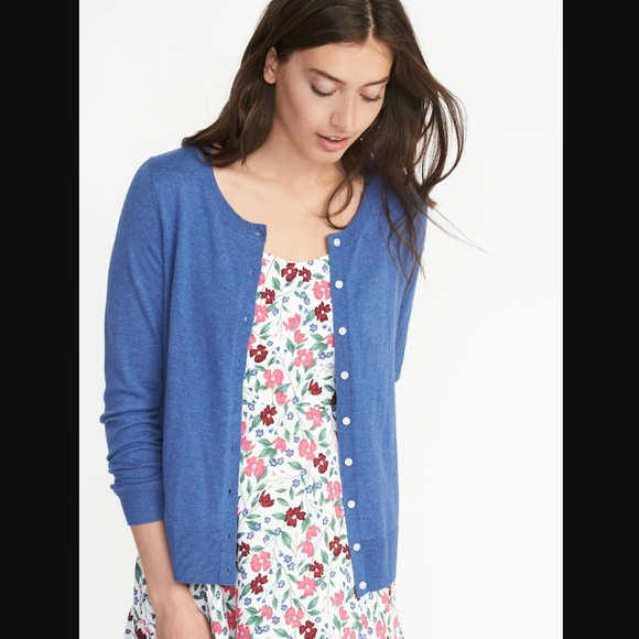 ✨NEW✨ Old Navy Blue Crew Neck Cardigan Sweater NWT